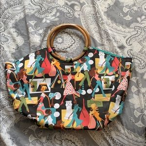 Neiman Marcus patterned tote bag